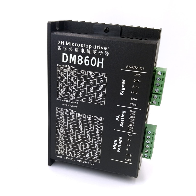 DM860H-محرك متدرج لـ 57 86 ، فرشاة محرك متدرج بدون تيار مستمر ، Nema23 34