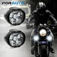 Фара для мотоциклов, 2 шт., 6500k, белая, супер яркая, 6 светодиодный, рабочий точесветильник, противотуманная фара для мотоциклов, лм
