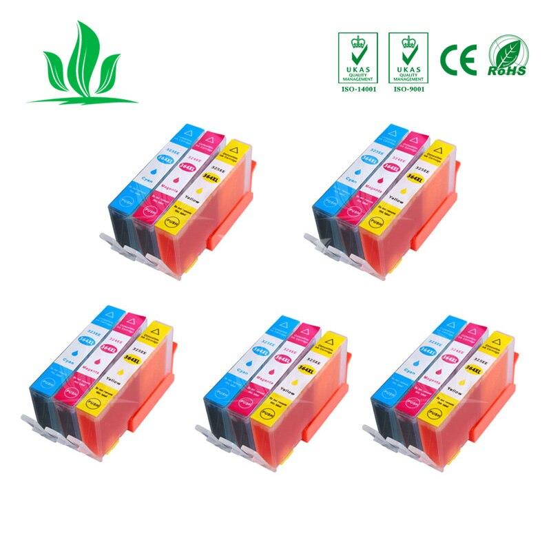5CMY 364XL cartucho de tinta Compatible para HP364 XL Photosmart 5520 de 5524 de 6510 impresora 6520