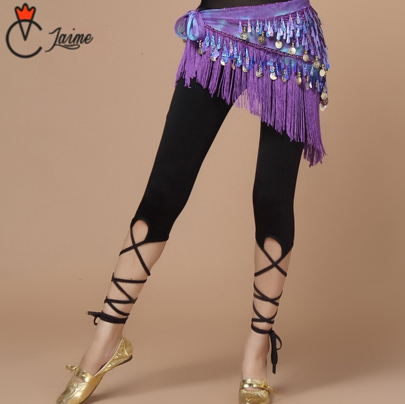 Pantalones de danza del vientre, promoción, ropa de práctica para bailarina del vientre, pantalones de vendaje para mujeres, Leggings de danza negra, mallas ajustadas Pantalones de danza del vientre