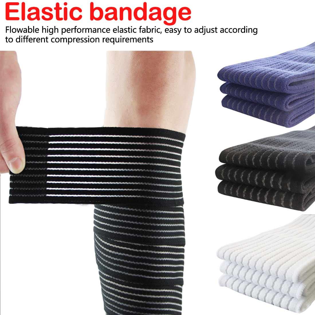 1 pçs elástico bandagem protetor de fita para tornozelo perna envoltório de pulso engrenagem protetora esporte joelho suporte cinta shin guard compressão