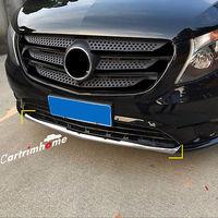 ABS Chrome Front Bumper Lip Cover Trim 1pcs for Mercedes-Benz Vito 2014-2017