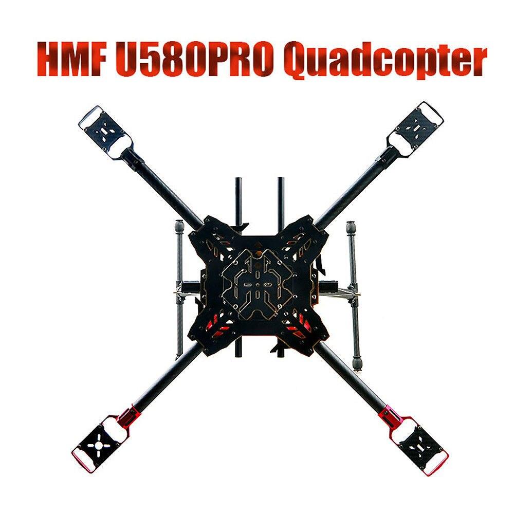 Fibra de carbono HMF U580Pro Totem paraguas plegable Kit de Marco RC Quadcopter Rack y tren de aterrizaje retráctil DIY FPV para carreras DIY