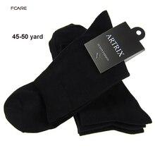 12 ชิ้น = 6 คู่ถุงเท้าแฟชั่น big elite ธุรกิจ calcetines ถุงเท้าบุรุษถุงเท้า plus ขนาดใหญ่ XXXL 48, 49, 50 meias homens