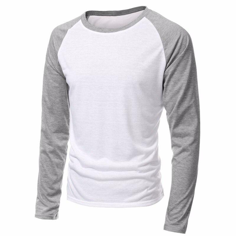 Ropa de marca de primavera 2020, camisetas de manga larga con cuello redondo para hombre, camiseta de béisbol informal, camiseta raglán para hombre, ropa de calle de talla grande 4XL
