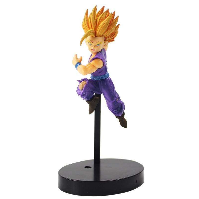 14cm de Dragon Ball Z Super Saiyan Ichiban Kuji Gohan con Base negra Goku hijo figura PVC figura de juguete de modelos coleccionables