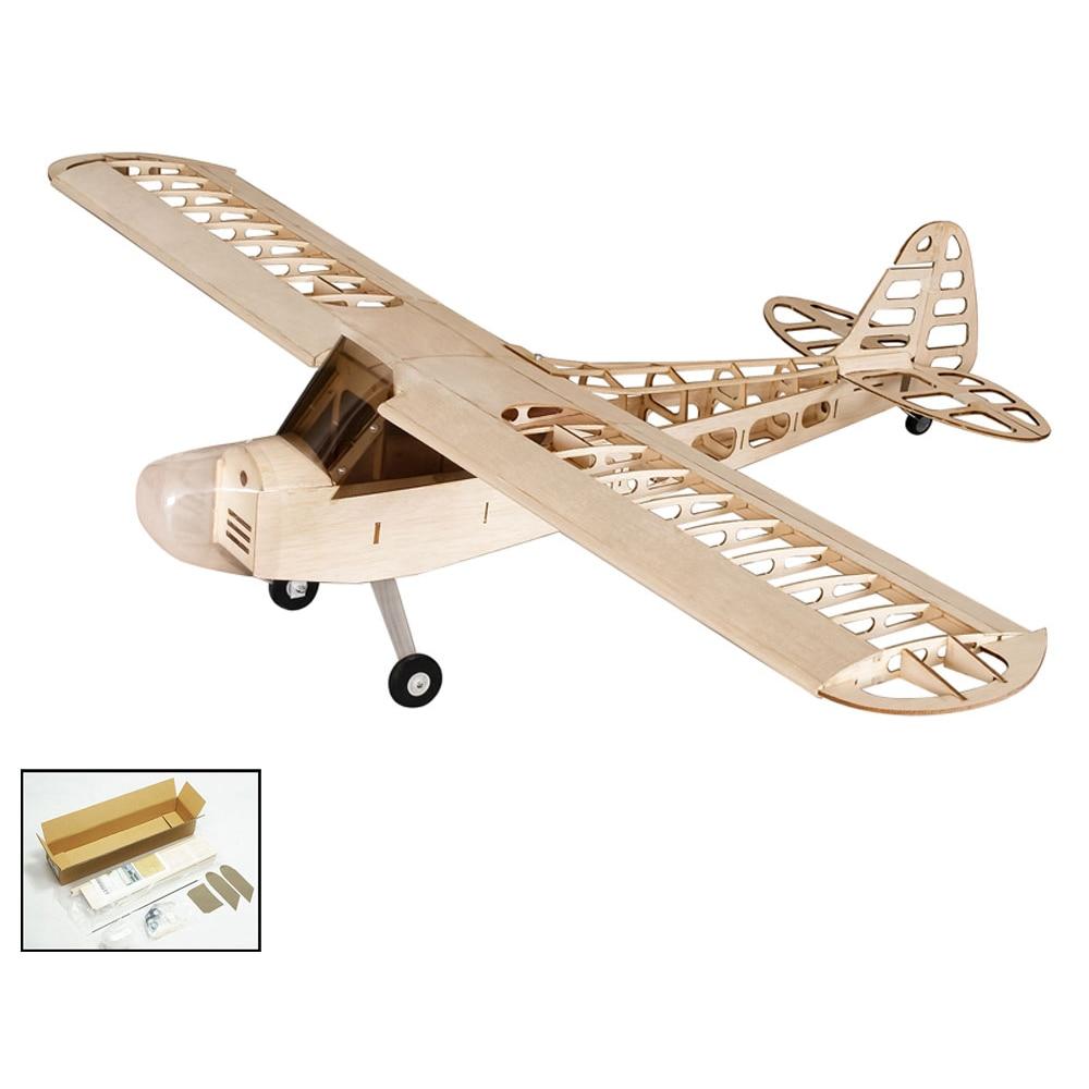 DIY RC Hobbies S0801 Balsa avión a Control remoto de madera 1,2 M, modelo de avión a Control remoto de J-3