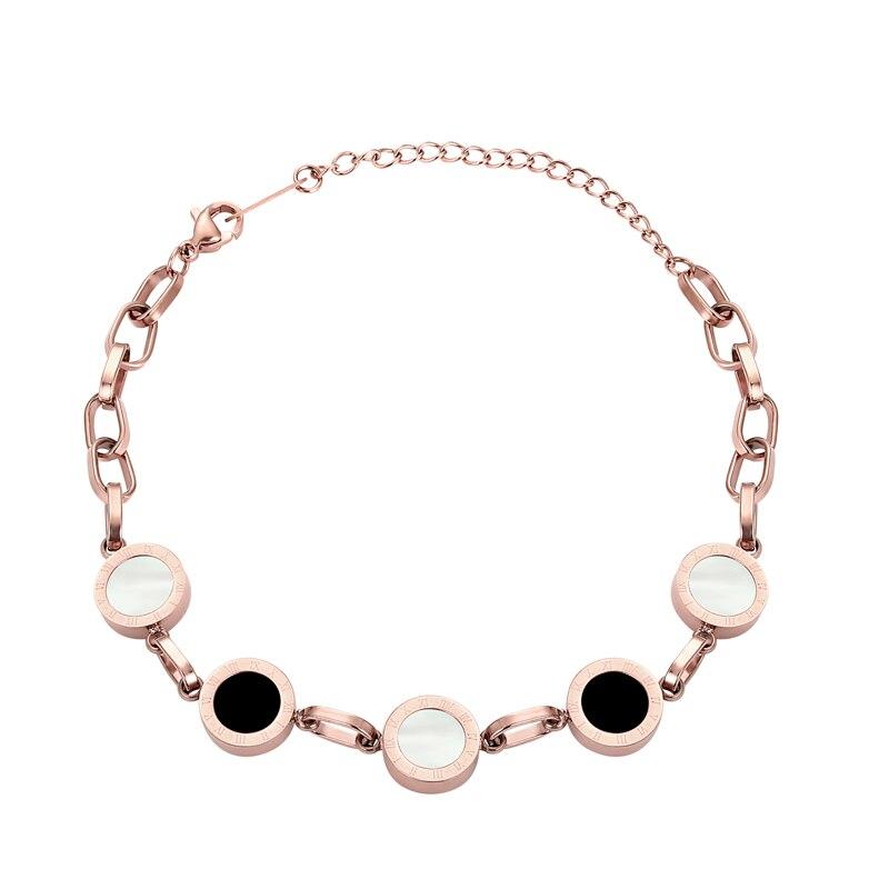 Preciosa pulsera de cuentas de resina negra de concha blanca de Color rosa, Pulseras de cuentas de fiesta de boda para mujer, Pulseras nupciales al por mayor