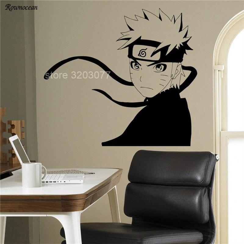 Desenhos animados anime naruto japonês manga vinil adesivo de parede decoração para casa crianças quarto meninos interior removível decalque mural hy07