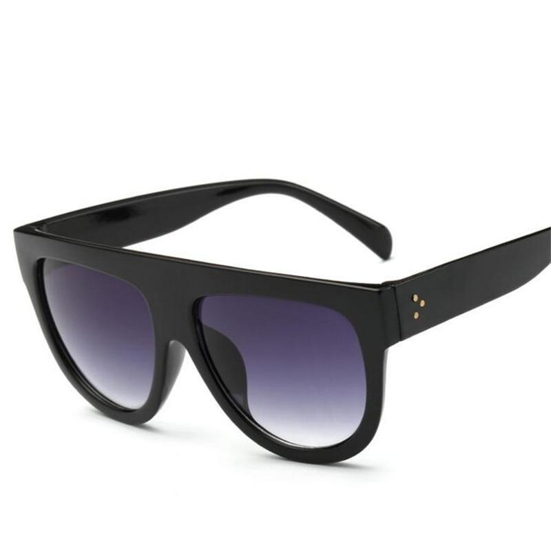 ZXTREE Fashion Big Frame Sunglasses Women Retro Brand Designer Flat Top Mirror Sunglasses Men Female