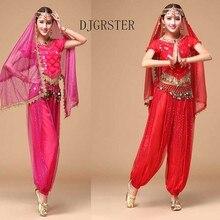 DJGRSTER Costume Bollywood Costume Indian Dress bellydance Dress Womens Belly Dancing Costume Sets Tribal Skirt 2-3pcs/1set