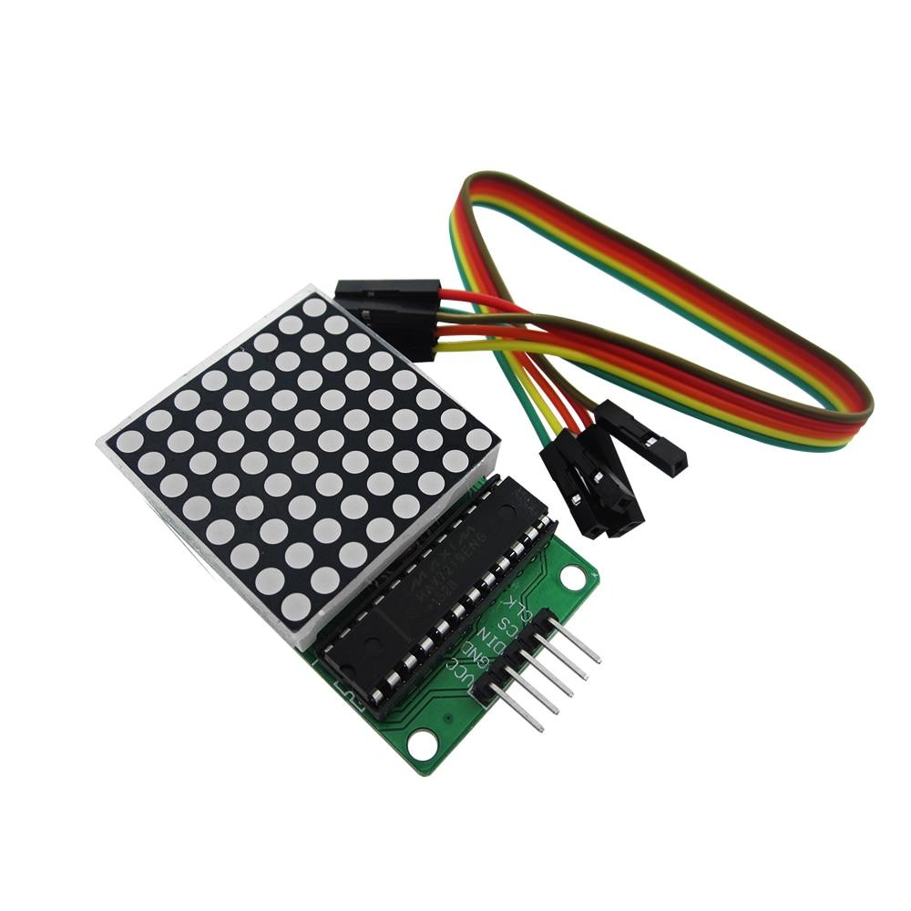 وحدة مصفوفة نقطية MAX7219 ، وحدة تحكم دقيقة ، وحدة عرض ، بضائع نهائية ، 10 قطعة