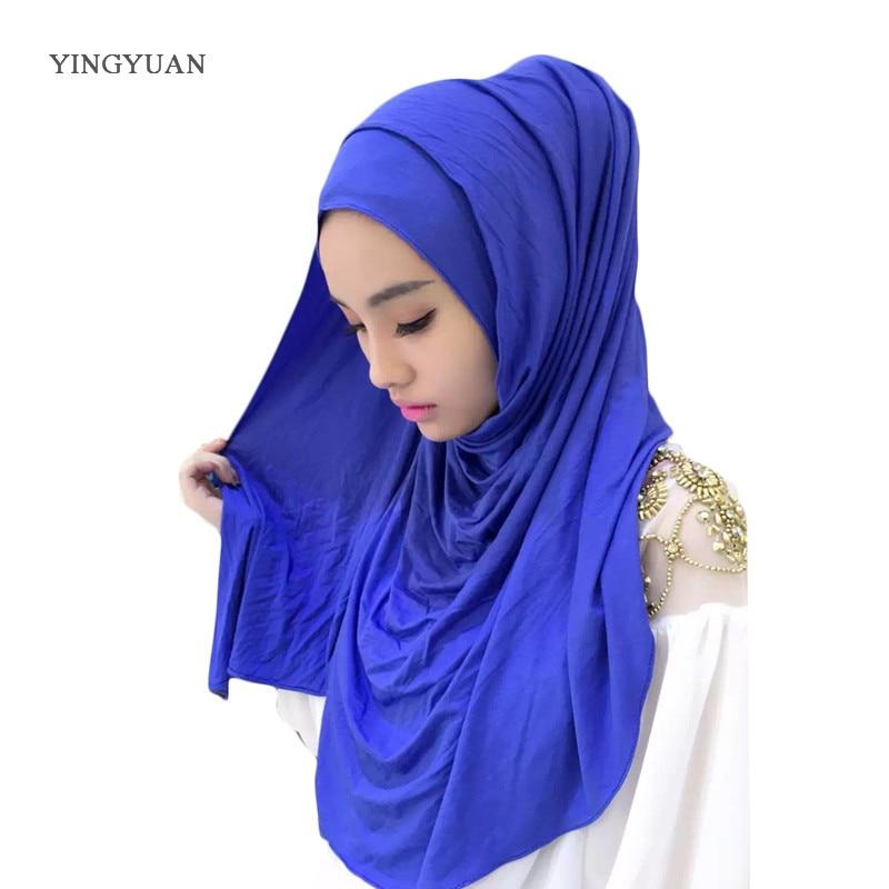 180*70cm de algodón hiyabs para mujer señoras Simple sólido Mantón largo bufanda de mujer diario de hiyab liso Moda musulmana pañuelo