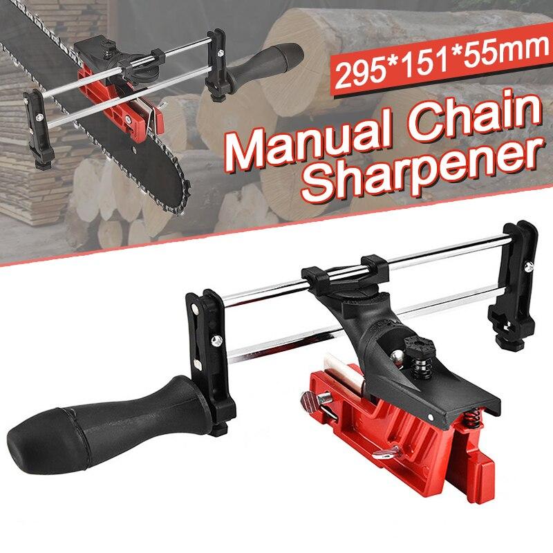 295*151*55mm Manual de Bar en cadena sacapuntas afilador de motosierra sierra de cadena de herramienta de guía