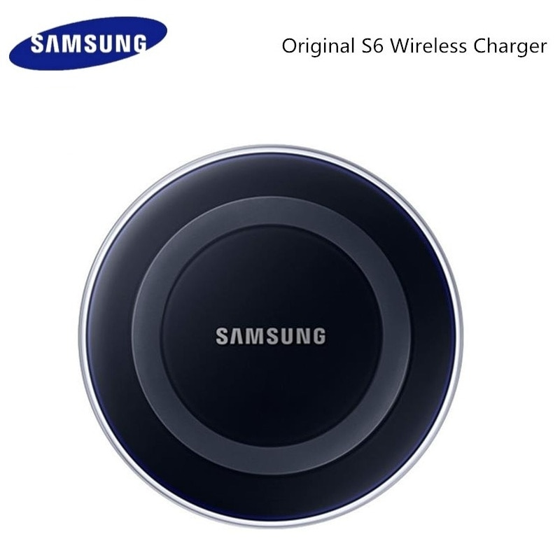 Original Samsung cargador inalámbrico QI adaptador de 5 V/2A cargador para Samsung Galaxy S6 S7 borde S8 S9 S10 Plus Nota 4 5 Iphone X XS X XR