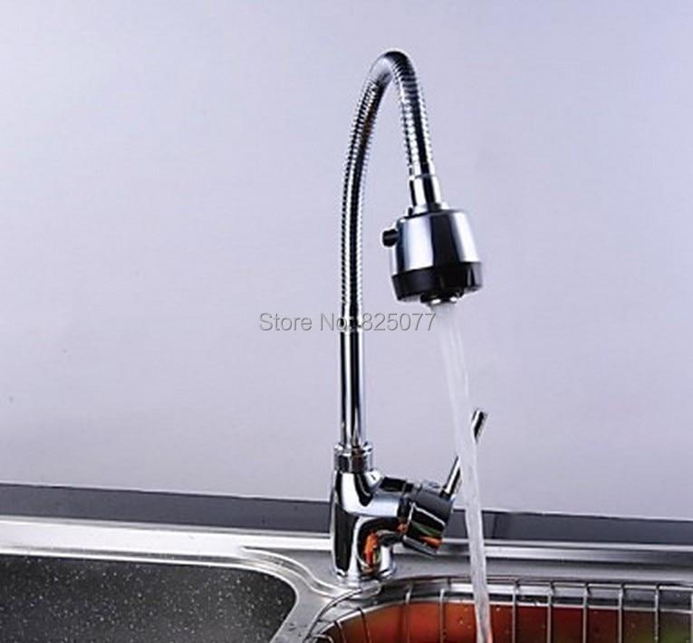 E_pak المطبخ بالوعة Torneira Cozinha الساخنة والباردة خلاط جميع حول تدوير عجلة دوارة 2 الوظائف مياه الحنفية المخرج صنبور KF93