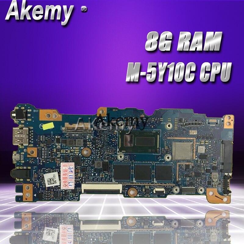 Akemy UX305FA placa base para ordenador portátil For Asus UX305FA UX305F UX305 placa base original de Prueba 8G RAM M-5Y10C CPU