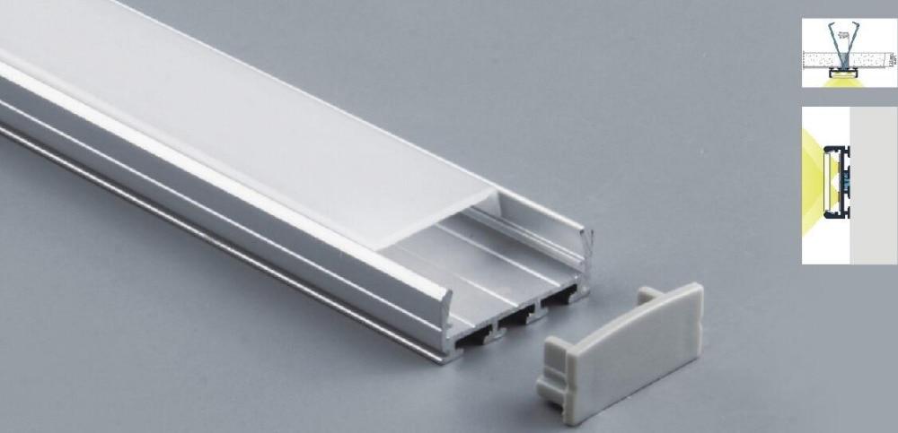 Envío gratis de montaje de perfil de aluminio LED 24mm de ancho mejor para techo 2 m/unids 30 m/lote