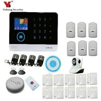 yobang security security 3g alarm system wifi app wcdmacdma security alarme with hd network camera surveillance wireless siren