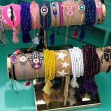 SHINUSBOHO Boho hommes bijoux étoile MIYUKI Bracelets pour femme gland pulseiras feminina déclaration Bracelet Bracelet amitié cadeau
