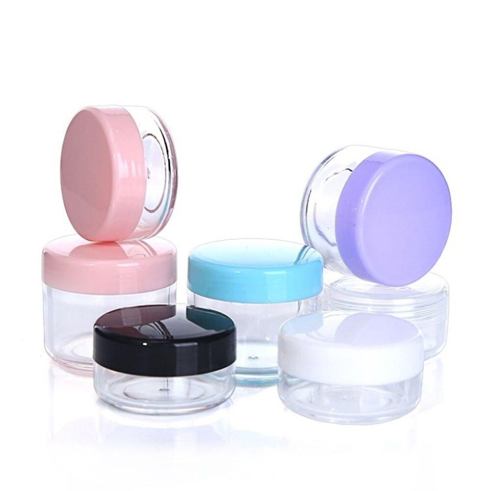 1 Uds. Botellas recargables de plástico vacías Mini tarro de cosméticos caja Crema Corporal/loción contenedor cosmético accesorio de viaje portátil