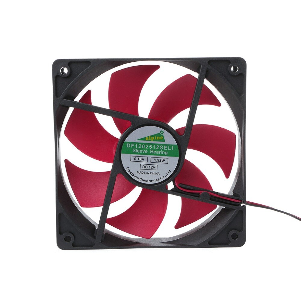 Mini 120x120x25mm DC 12V 0.16A 2 Pin 7-Blade Blower Cooling Fan Cooler 12025