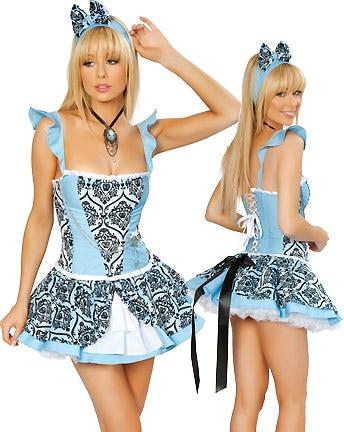 Wonderland Costume Women - Sexy Halloween Storybook Costume in Wonderland Cosplay Costume 3S9503