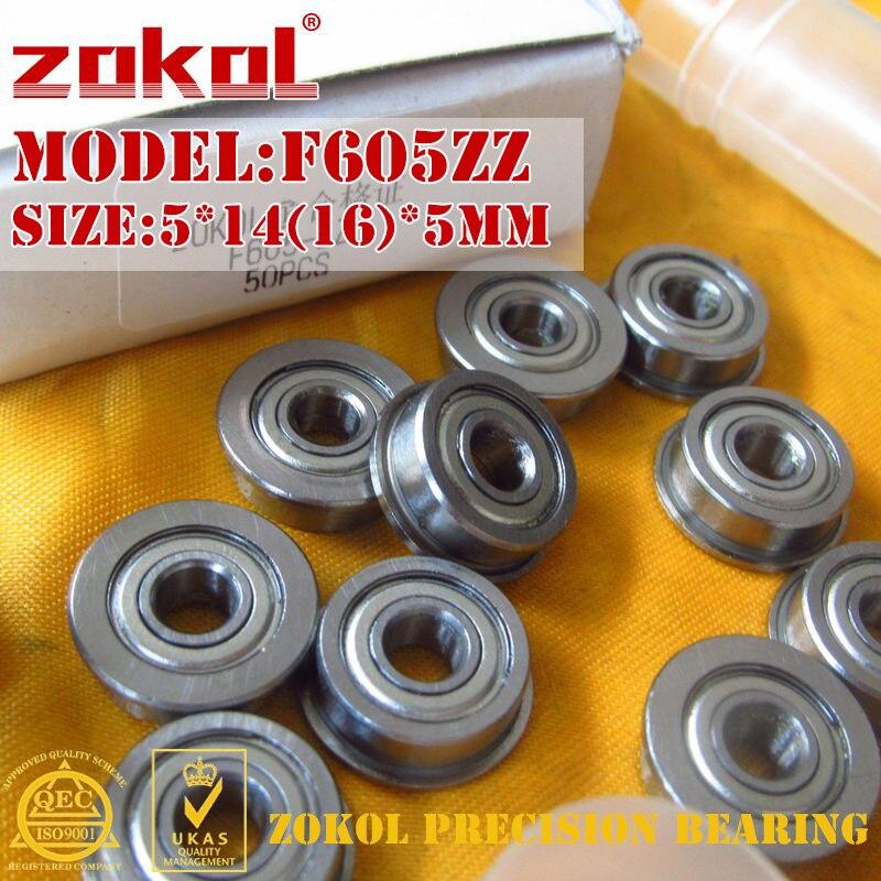 ZOKOL F605 ZZ rodamiento F605ZZ rodamiento de brida F605-ZZ rodamiento rígido de bolas 5*14 (16) * 5mm