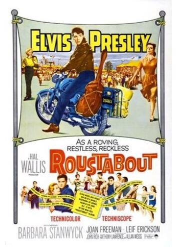 1964 roustabout filme cartaz elvis presley barbara stanwyck motocicletas poster de seda pintura decorativa 24x36inch