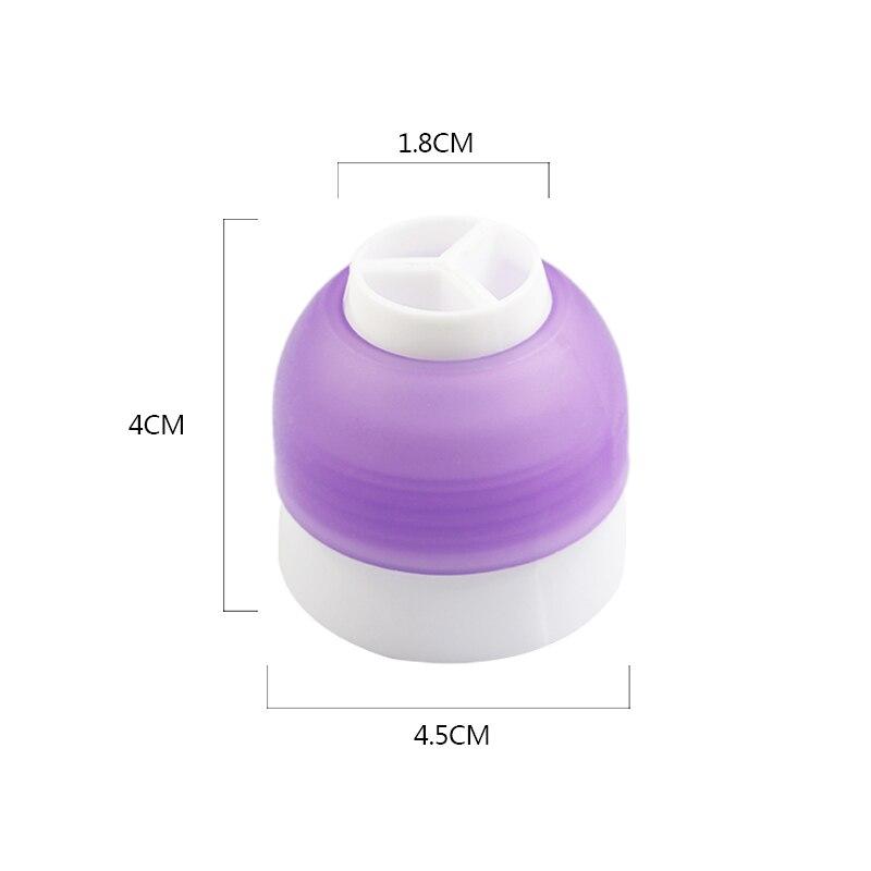 Acoplador De Tres Colores para decoración De magdalenas, adaptador De Tres Colores