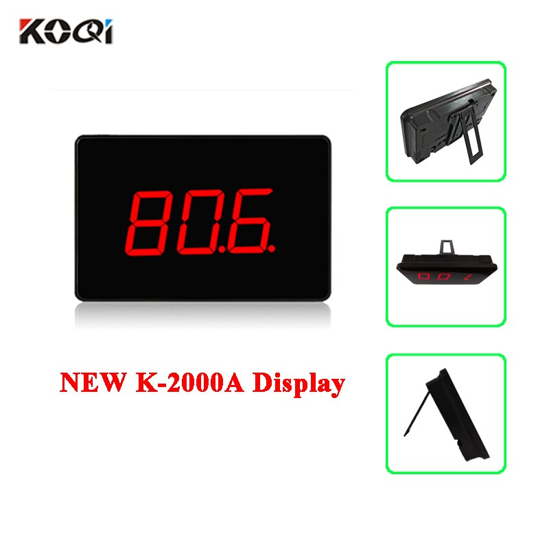 3-digit Number 999 Channel RF Wireless Restaurant Calling Paging System Receiver Host Voice Broadcast