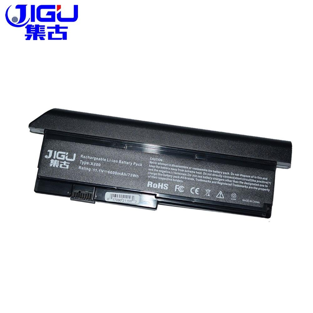JIGU Горячее предложение, Новая батарея для ноутбука Lenovo ThinkPad X200 X200S X201 X201S X201i 42T4650 черный