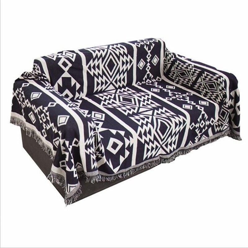 Manta Toalla de algodón para sofá, funda decorativa para sofá, manta plana de viaje de estilo europeo de alta calidad con costuras, alfombrilla saludable
