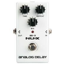 NUX AD3 Гитарные эффекты педаль аналоговый эффект задержки низкий уровень шума BBD задержка цепи 20-300 мс время задержки