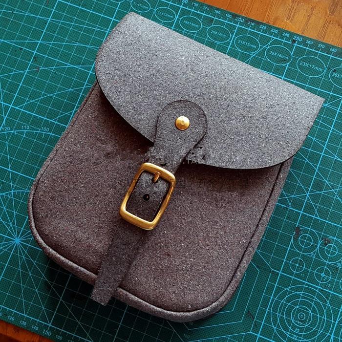 [B-088] DIY arte de cuero hecho a mano con una pequeña bolsa con patrón de dibujo cortado DIY bolsa de cuero dibujo de papel escala 11 para cortar cuero