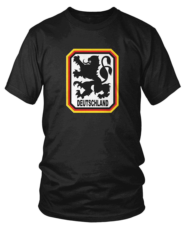 2018 verano marca 100% algodón Fitness ropa hombres camiseta Tops para hombres Deutschland Lion Crest, Alemania protector de León Homme camiseta