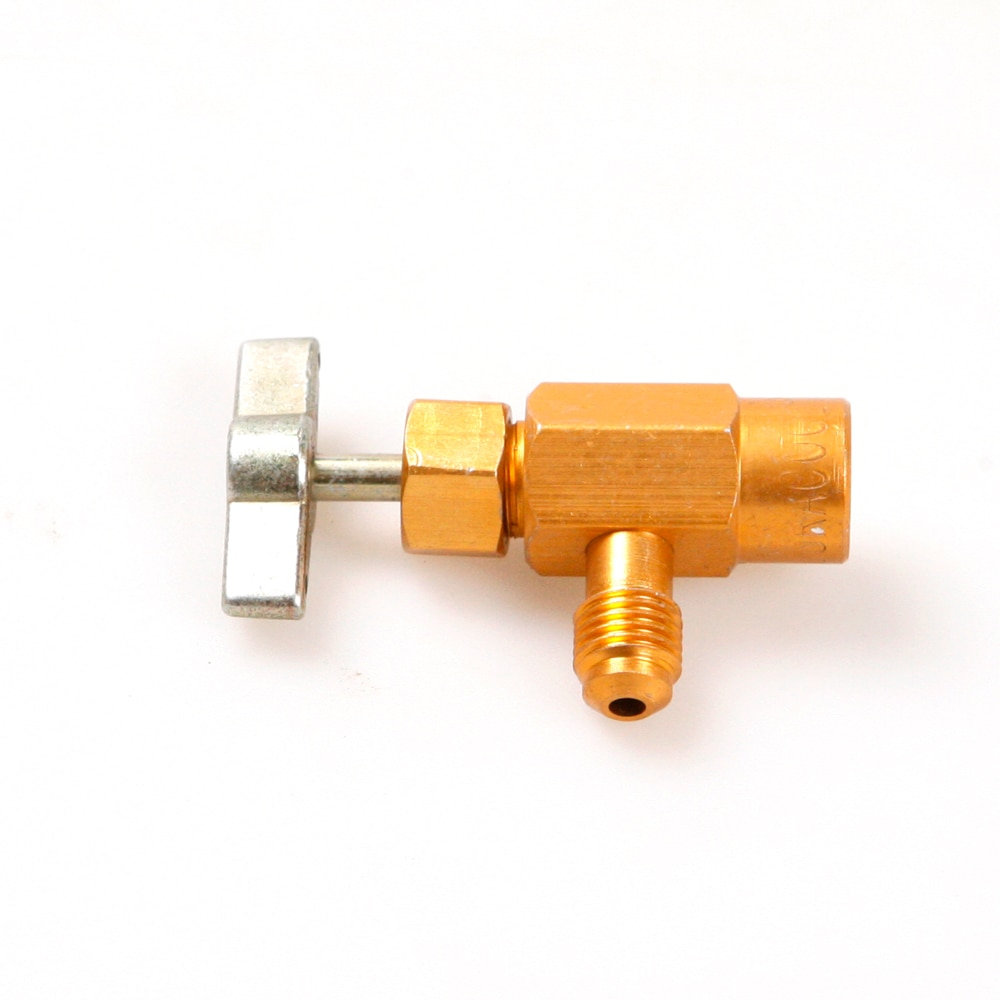 R134a хладагент может Con бутылка кран-открывашка клапан 1/4SAE M14 Резьбовой Адаптер
