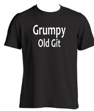 Grumpy Old Git Mens T Shirt Present For Dad Grandad Funny Birthday Gift Ideas 2019 Fashion 100% Cotton Slim Fit Top T-Shirts Tee