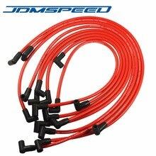 Ücretsiz Kargo-JDMSPEED 10.5 MM Yüksek Performanslı buji teli Seti HEI SBC BBC 350 383 454 Elektronik Kırmızı Renk