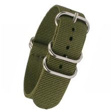Acheter 2 obtenir 10% de réduction) 16mm 18mm 20mm 22mm 24mm solide armée vert Zulu tissu Nylon bracelet de montre 5 anneaux bandes boucle otan