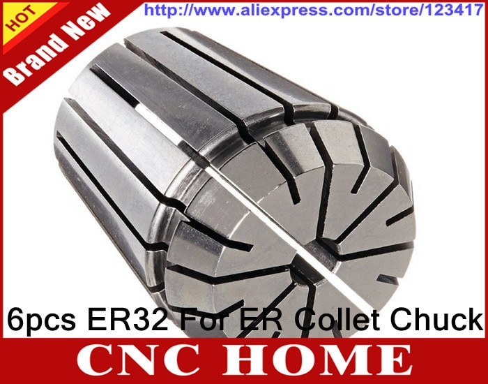 6PCS for Choose ER ER32 Collet Chuck for Spindle Motor Engraving/Grinding/Milling/Boring/Drilling/Tapping