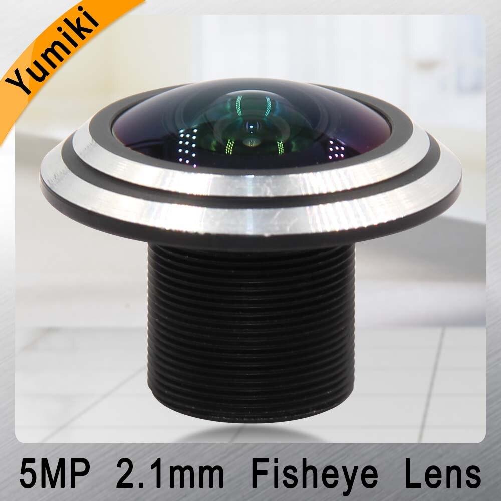 "Yumiki CCTV OBJEKTIV 5MP 2,1mm M12 * 0,5 1/2. 5 ""Fisheye objektiv 170 grad für CCTV Sicherheit IP kamera"