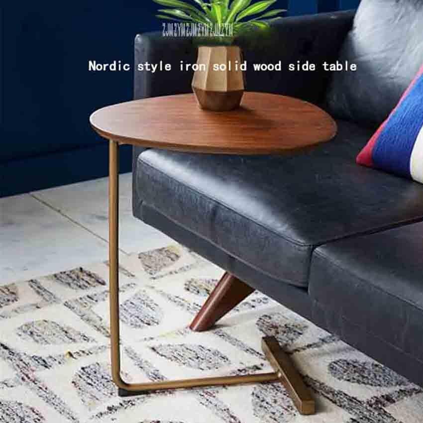 جديد KDR-777 صغيرة طاولة القهوة الحديثة البساطة السرير الجدول الشمال نمط الحديد الصلبة الخشب طاولة جانبية البسيطة الإبداعية الشاي الجدول