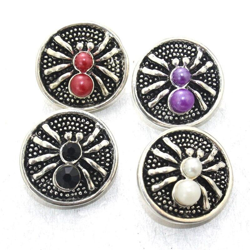 Boom Life 5 colores Metal Animal araña 18mm botón de presión joyería para hombre pulsera Relojes mujeres brazalete joyería 011119