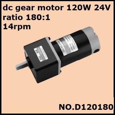 Dhl entrega rápida! Não. relação 120 do motor 180 w 24 v da engrenagem da c.c. d120180 1 14rpm