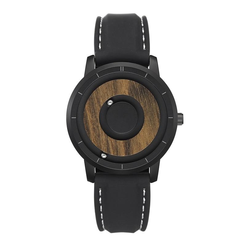 EUTOUR  Magnet Watches 2019 men watch women watches fashion Casual Quartz Watch Simple Men Minimalist Wooden dial