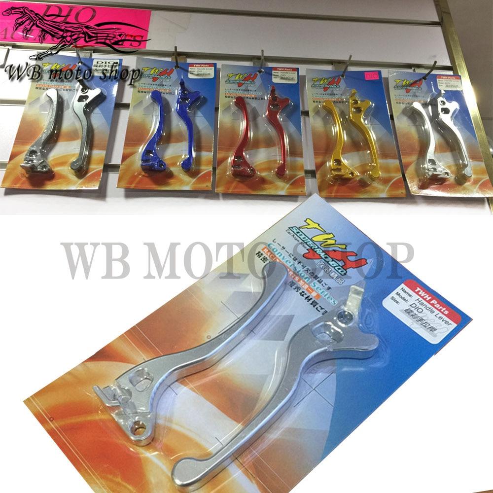 Productos Taiwan TWH accesorios de motocicleta palancas de embrague de freno para honda DIO 50 ZX50 AF18 AF28 AF34 AF35 DIO50 freno de disco
