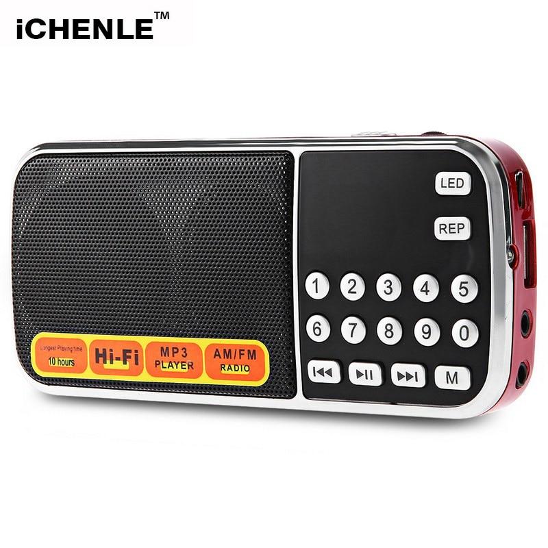 Radio FM AM Mini altavoz Multimedia MP3 reproductor de audio Supergraves soporte TF USB disco PC Mesa teléfono móvil con lashlight