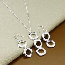 promotion sale, wholesale fashion jewelry, Silver color jewelry, Silver color plated necklace + earrings jewelry set