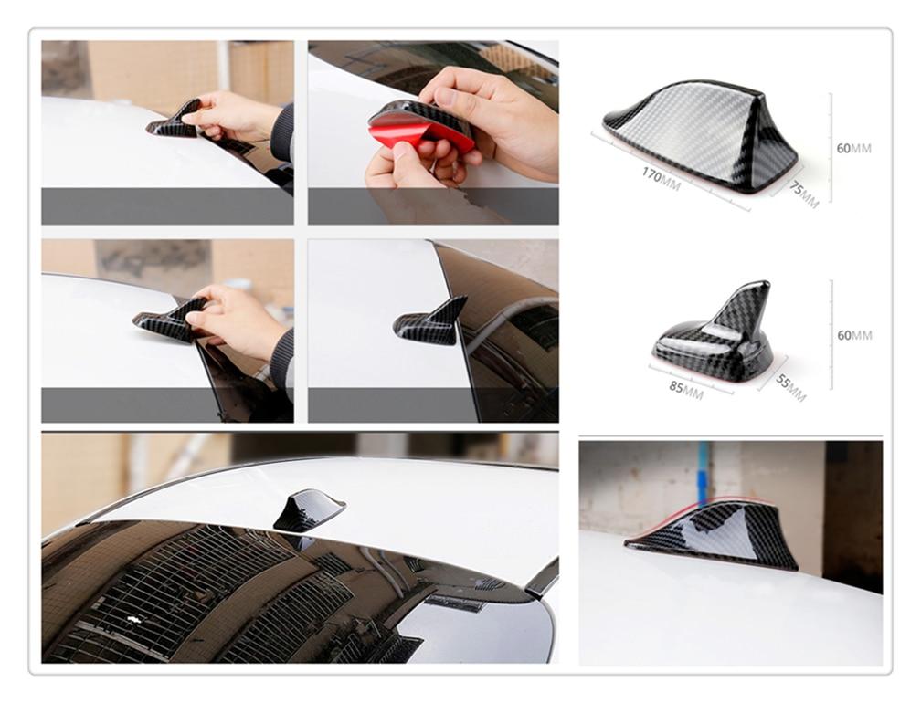 Adorno de fibra de carbono universal para coche aleta de tiburón de cola de techo inalámbrica para Lexus IS350 GS430 RX400h RX330 IS250 ES330